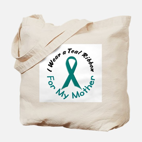 Teal Ribbon For My Mother 4 Tote Bag