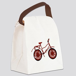 RedBicycle030310 Canvas Lunch Bag