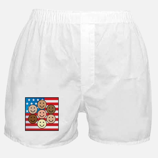 America People of Many Colors Boxer Shorts