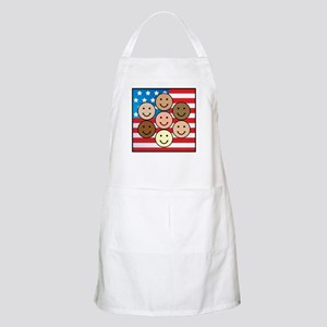 America People of Many Colors BBQ Apron