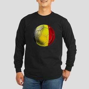 Belgian Football Long Sleeve Dark T-Shirt