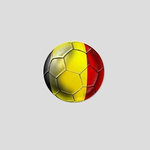 Belgian Football Mini Button