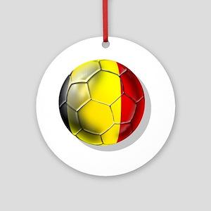 Belgian Football Ornament (Round)