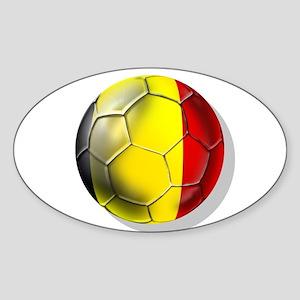 Belgian Football Sticker (Oval)