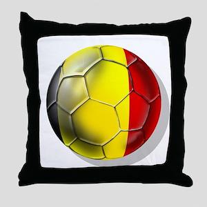 Belgian Football Throw Pillow