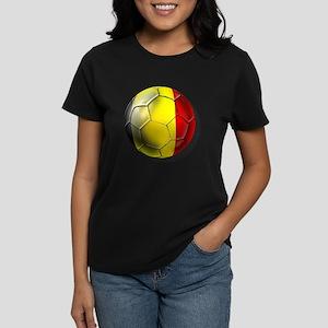 Belgian Football Women's Dark T-Shirt