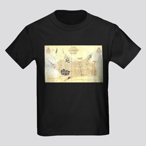Vintage Map of Barcelona Spain (1859) T-Shirt