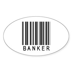 Banker Barcode Oval Sticker (10 pk)