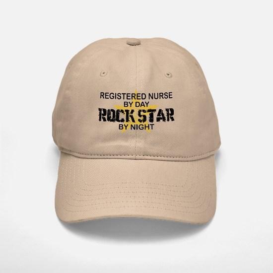 RN Rock Star by Night Baseball Baseball Cap