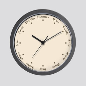 Quaint Wall Clock with Latin Numbers