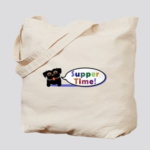 Suppertime Pug Tote Bag