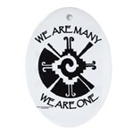 We Are One Oval Ornament