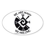We Are One Oval Sticker