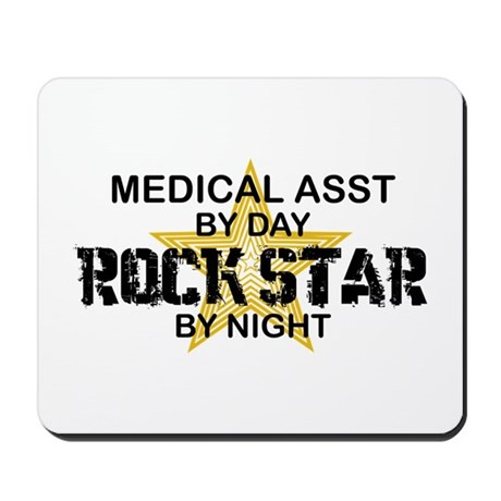 Medical Asst Rock Star by Night Mousepad