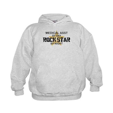 Medical Asst Rock Star by Night Kids Hoodie