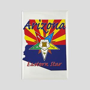 Arizona Flag Eastern Star Rectangle Magnet