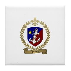 BOUDROT Family Crest Tile Coaster