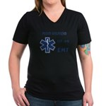 EMT Girlfriend Women's V-Neck Dark T-Shirt