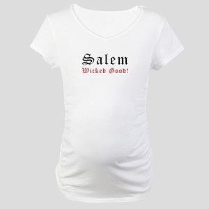 Salem MA Wicked Good Maternity T-Shirt