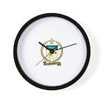 BOURDON Family Crest Wall Clock