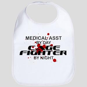 Med Asst Cage Fighter by Night Bib