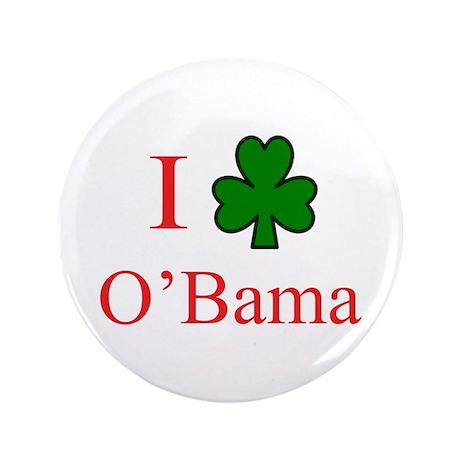 "I [Shamrock] O'Bama 3.5"" Button"