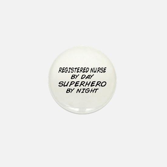RN Superhero by Night Mini Button