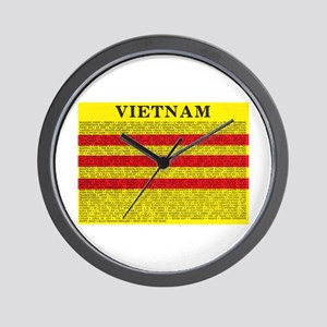 Vietnam In Words Wall Clock