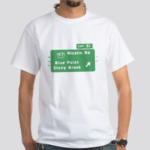 Blue Point Stony Brook Exit S White T-Shirt