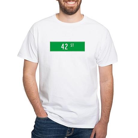 42nd St T-shirts White T-Shirt