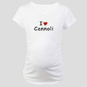 I Heart Cannoli T-shirts Maternity T-Shirt