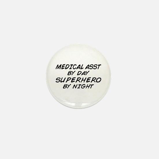 Med Asst Superhero by Night Mini Button