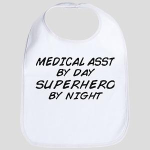 Med Asst Superhero by Night Bib