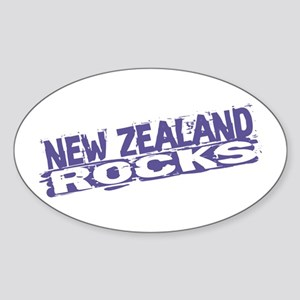 New Zealand Rocks Oval Sticker