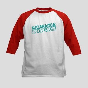 Nicaragua Rocks Kids Baseball Jersey
