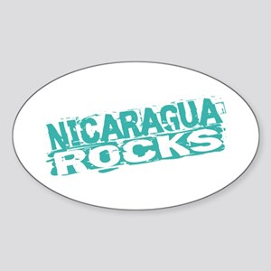 Nicaragua Rocks Oval Sticker