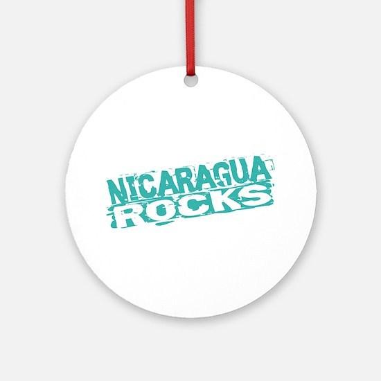 Nicaragua Rocks Ornament (Round)