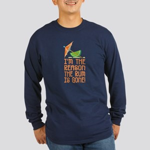 Rum Gone - Long Sleeve Dark T-Shirt
