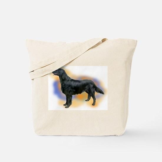 flatcoat portrait Tote Bag