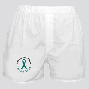 Teal Ribbon For All Of Us 4 Boxer Shorts
