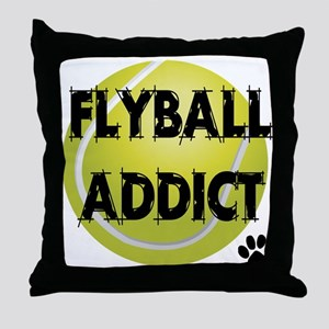 Flyball Addict Throw Pillow