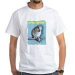 Blue Quaker White T-Shirt
