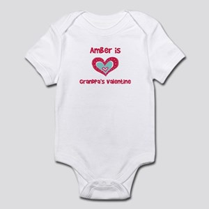 Amber Is Grandpa's Valentine Infant Bodysuit