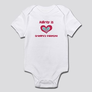 Aubrey Is Grandpa's Valentine Infant Bodysuit