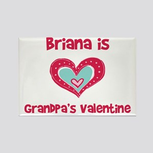 Brianna Is Grandpa's Valentin Rectangle Magnet