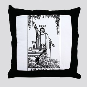 The Magician Rider-Waite Tarot Card Throw Pillow
