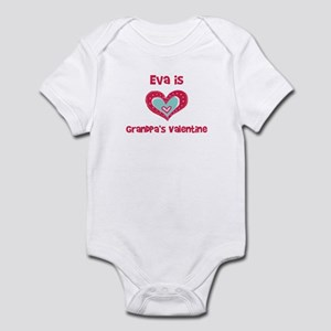 Eva Is Grandpa's Valentine Infant Bodysuit