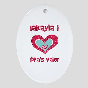 Makayla Is Grandpa's Valentin Oval Ornament