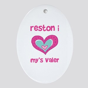Preston Is Mommy's Valentine Oval Ornament