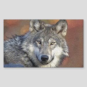Wolf Art Rectangle Sticker